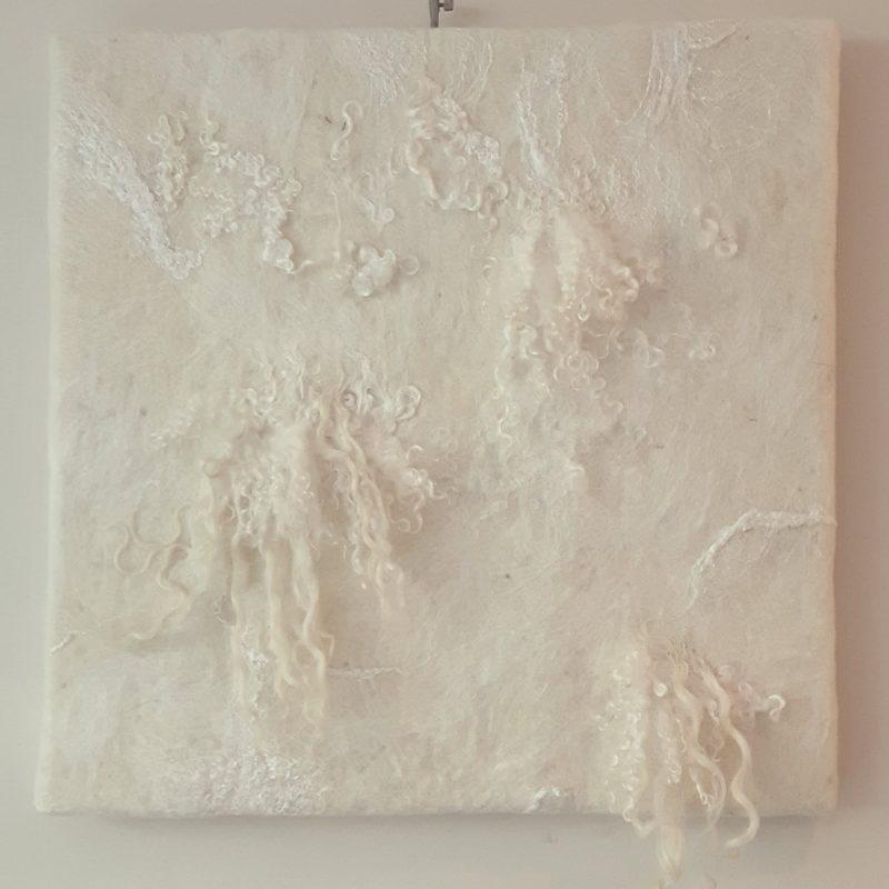 Viltschilderij witte tinten RMV Tactiles