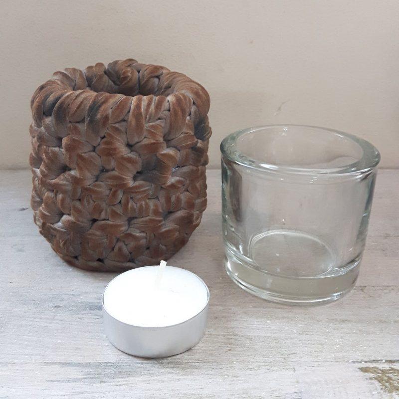 Waxinelichthouder roestig grijs RMV Tactiles