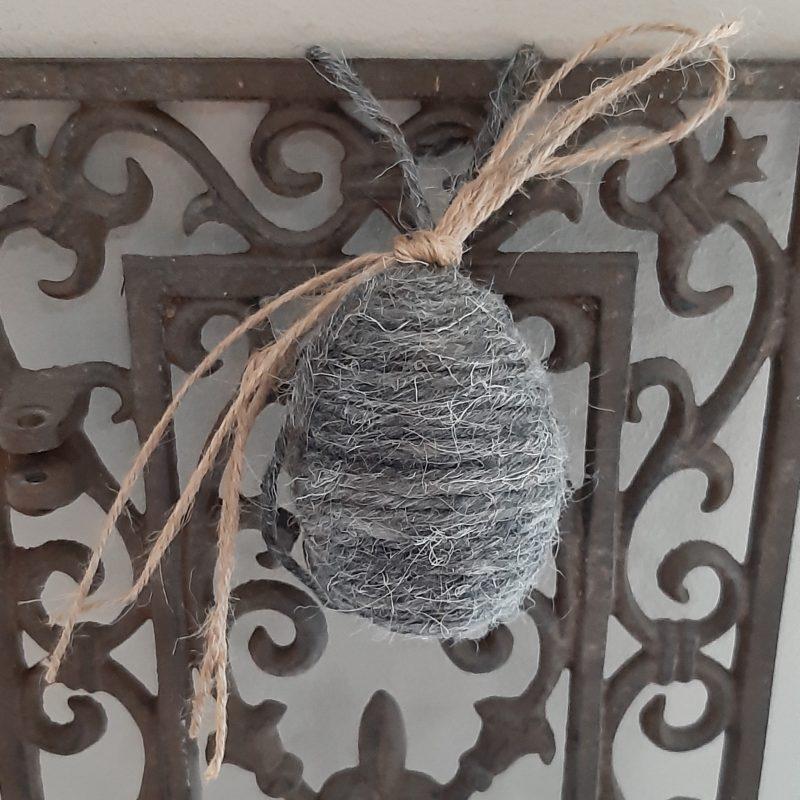 Wollen ei grijs - jute of grijs linnen - RMV Tactiles