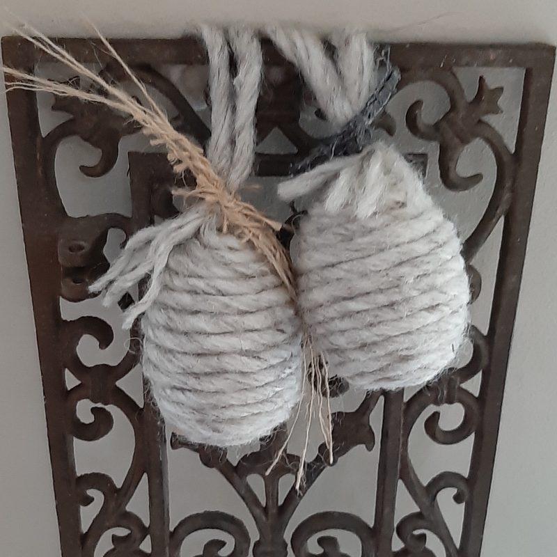 Wollen ei lichtgrijs - jute of grijs linnen - RMV Tactiles