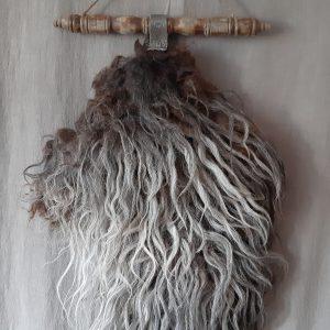 Prachtig wandkleed in grijstinten aan gedraaid hout RMV Tactiles