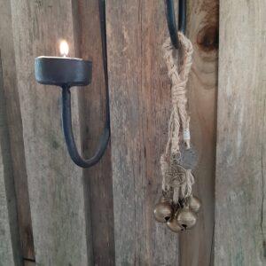 Witch's bells - 5 bellen klein naturel touw heksenbellen - RMV Tactiles