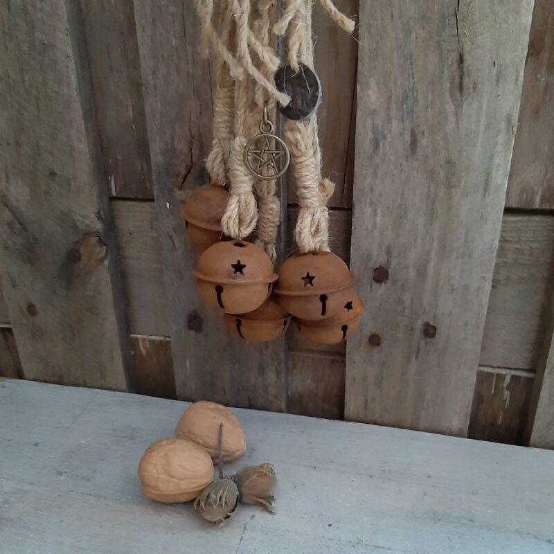Witch's bells - 5 bellen naturel touw - RMV Tactiles